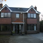 A house extension recently completed